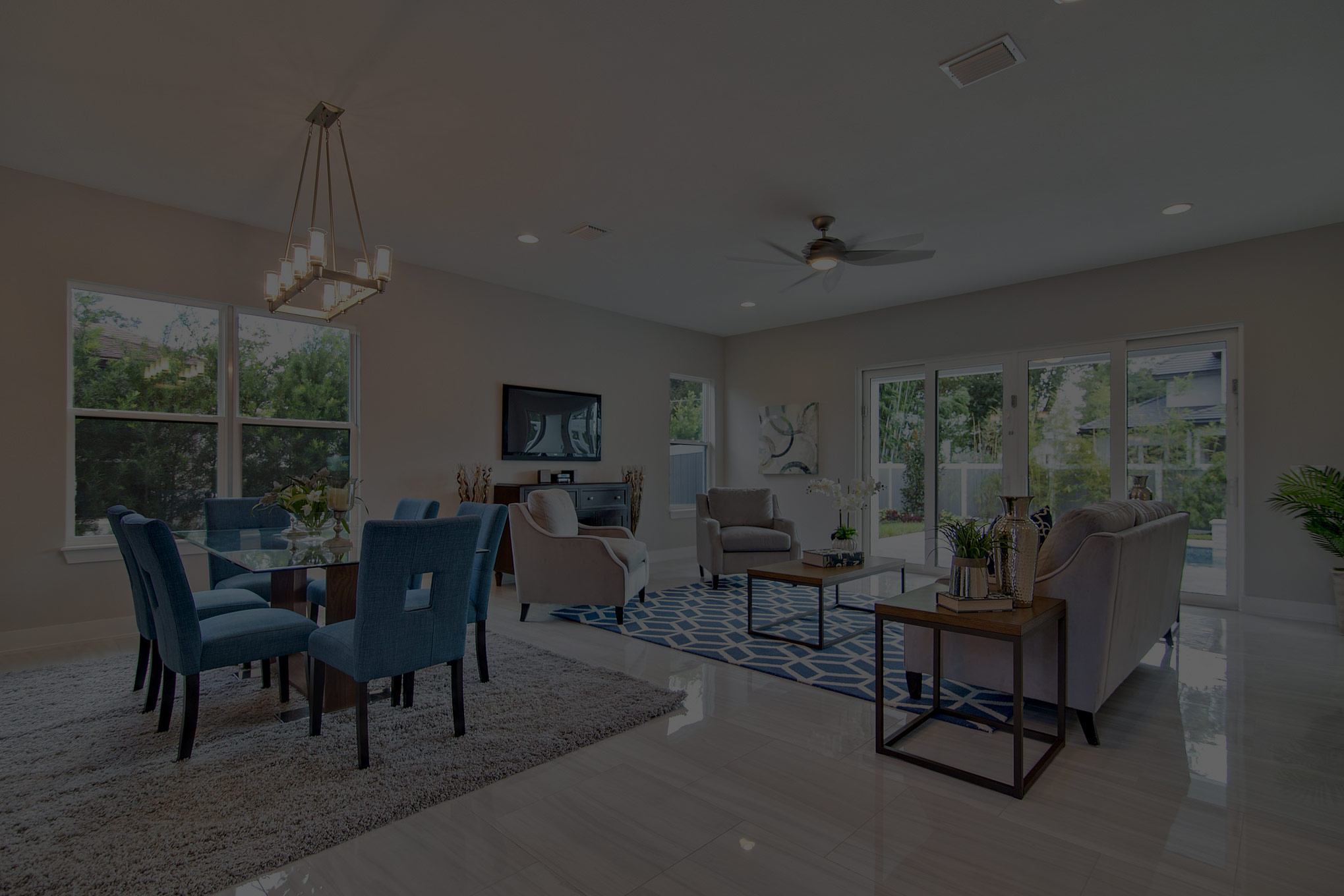 Staged Living Area by Home Staging Pros