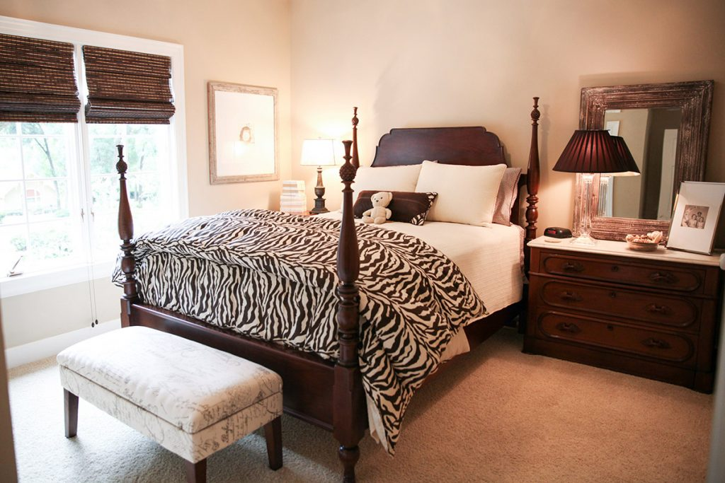 Occupied Home Staging of Bedroom