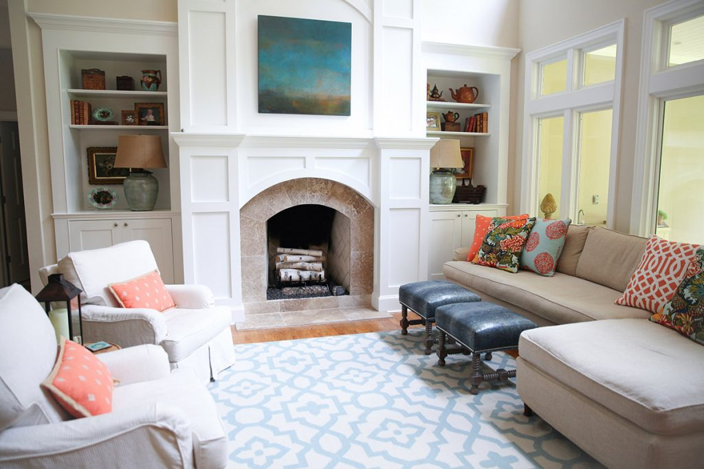 Occupied Staging of Modern Living Room