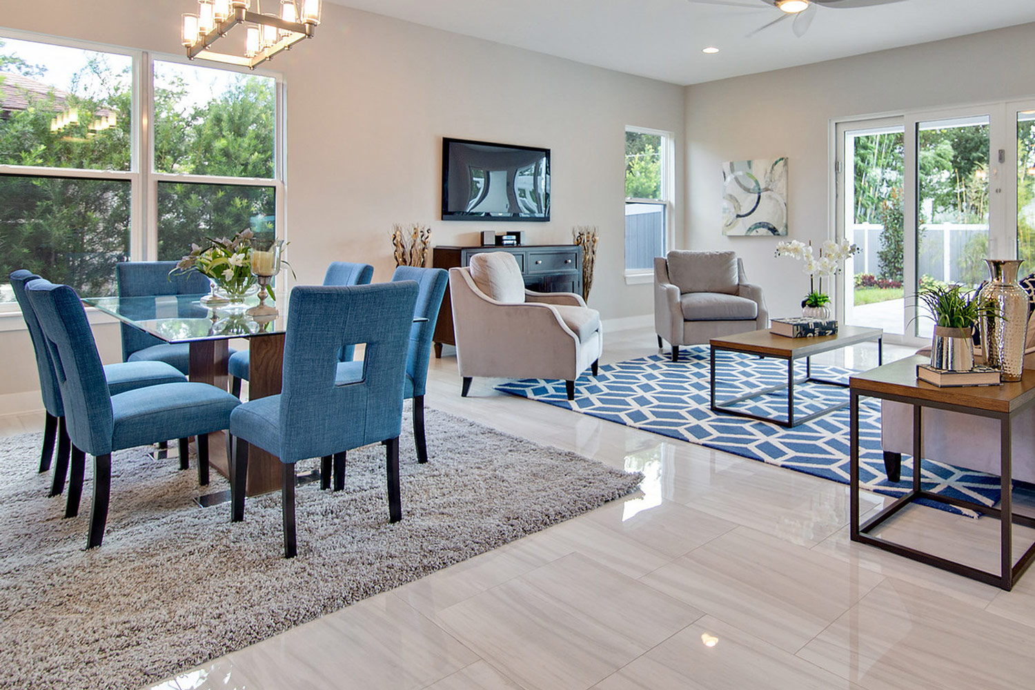 Staged Great Room - Home Staging Pros Orlando